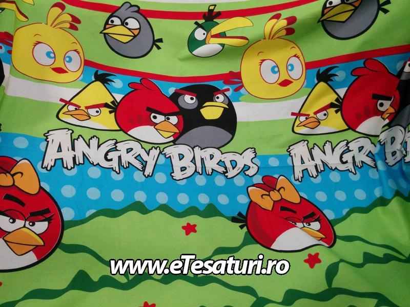 chiffon satinat Angry Birds
