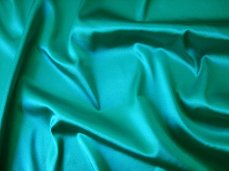 saten elastic turcoaz spre verde