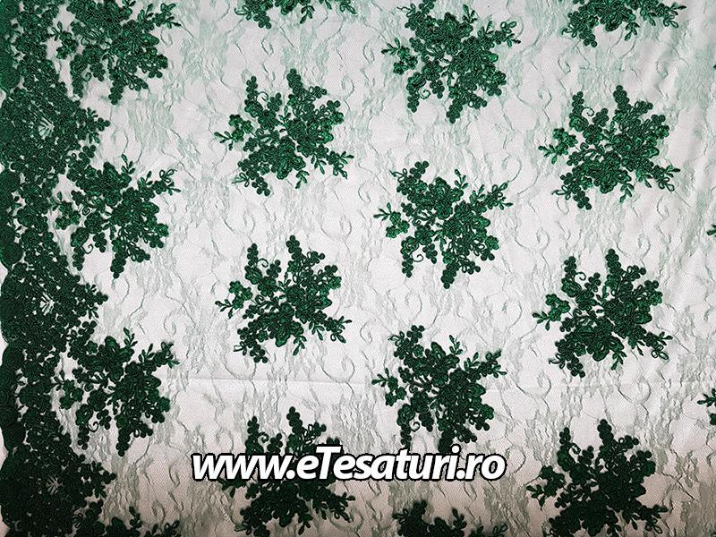 broderie verde smarald