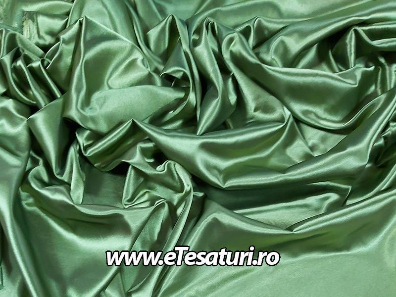 saten elastic verde olive