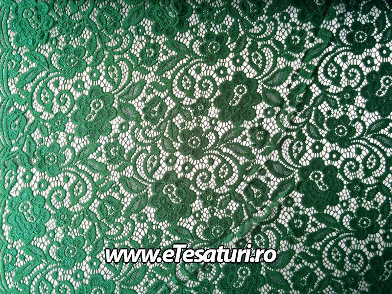 dantela elastica verde