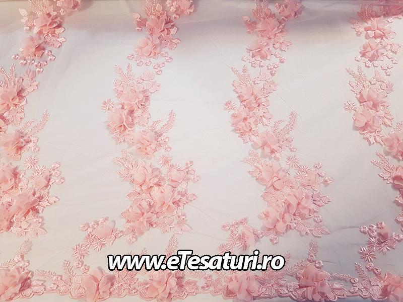 dantela 3D roz