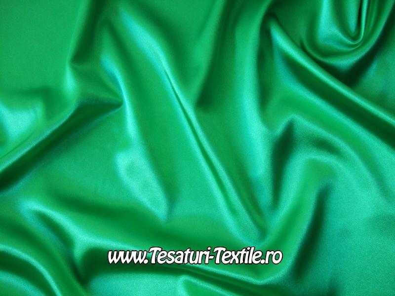 saten elastic verde