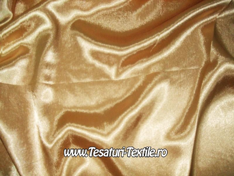 saten elastic auriu