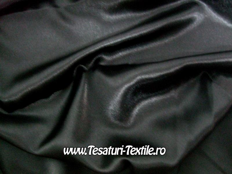 saten elastic negru