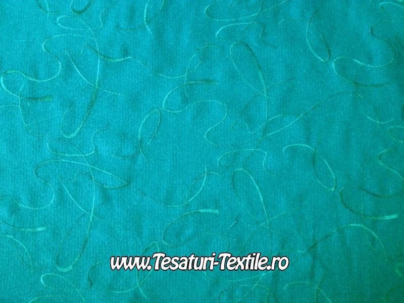 stofa brodata turcoaz